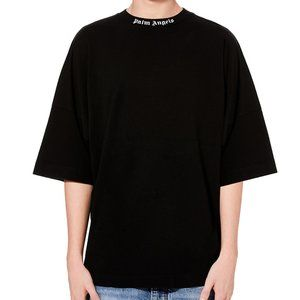 PALM ANGELS NECK AND BACK WRITTEN T-SHIRT